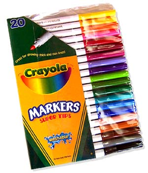 20 Crayola Washable Super Tips Markers