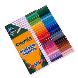 50 Crayola Washable Super Tips Markers<br><b><font color=red>Online Sale!</font></b>