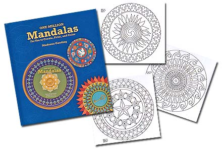 1 Million Mandalas<br>to Create, Print, and Color<br>by Gauding<br><font color=red>Discount!</font>