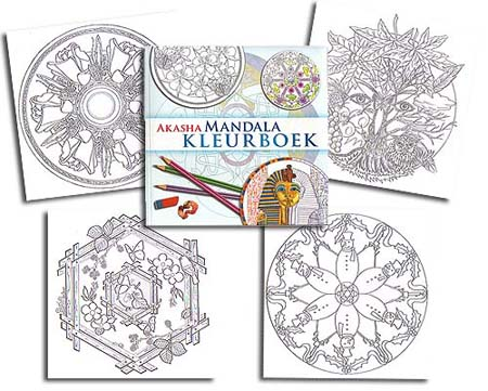 <b>Dutch</b> AKASHA Mandala Coloring Book<br><b><font color=red>EXCLUSIVE!</font></b>