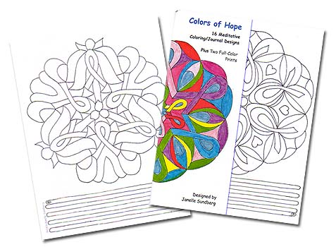 Colors of Hope:<br>Meditative Coloring/Journal Designs<br>by Janelle Sundberg