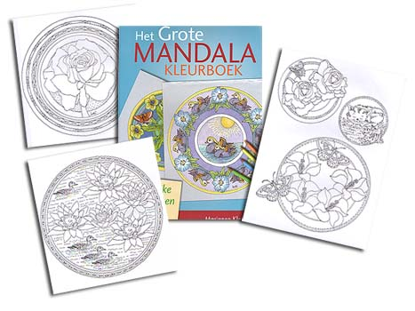 <b>Dutch</b> BIG Mandala Col. Book<br>by M. Klooster<br><b><font color=red>EXCLUSIVE!</font></b>