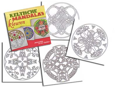 <b>Dutch</b> Celtic Mandala Coloring Book<br><b><font color=red>EXCLUSIVE!</font></b>