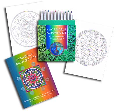 The Mandala Notecard Coloring Kit (12)<br><b><font color=red>10%  Discount</font></b>