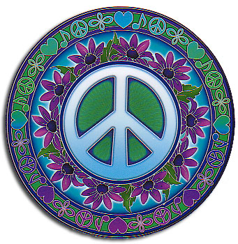 Peace Symbols Sticker (4.5