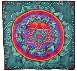 Heart Chakra on Silk<br><b><font color=red>5% Online Discount </font></b>