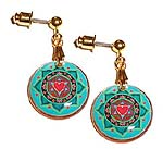Heart Chakra Earrings<br><b><font color=red>Online Discount</font></b>